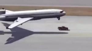 トラック「オレが飛行機の前輪になる!」飛行機の前輪となり着陸を助けるトラックが凄い!