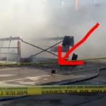 猫ちゃん無事脱出!火事で倒壊した建物から脱出してくる猫!