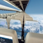 10年後には窓のない飛行機が登場!?外の景色を有機EL技術で客室に再現!