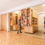 革新的1DK!ひとつの部屋が書斎やキッチンや寝室に早代わり!