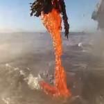 これはすごい!海に流れ落ちる溶岩の滝をGoProで至近距離撮影!