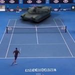 全豪オープンでジョコビッチVS戦車のテニス対決!?架空の対戦を実現した映像作品!