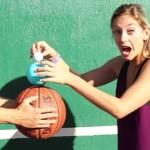 重ねて落とすと超バウンド!バスケットボールとゴムボールとゴルフボール!