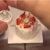 食べられるミニチュアフード!新作はイチゴのケーキだ!