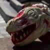 スイカの彫刻!スイカで作られた恐竜の顔が驚きのクオリティ!