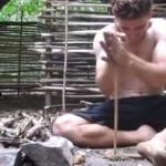 マジすごい!道具なしで森に小屋を建てる、家建設サバイバル術!
