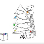 ほんわかアニメ!ひとりぼっちの子犬のクリスマス!
