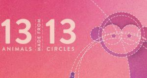 あら素敵!まん丸の円だけで13種類の動物を描いたGIF!
